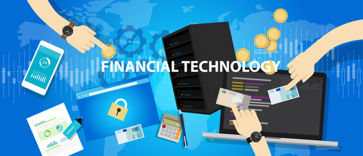 fintech financial technology servies banking commercial vector concept