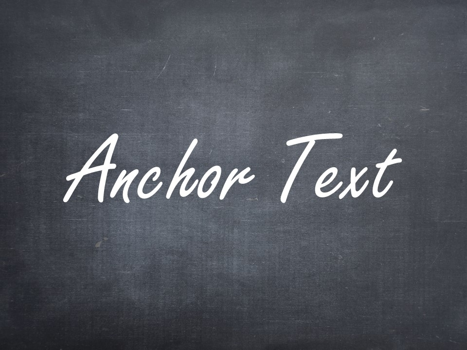 Definition von Anchor Text